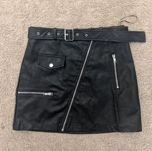 Seek The Label Faux Leather Skirt